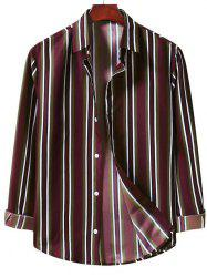 Casual Vertical Stripe Button Up Shirt -