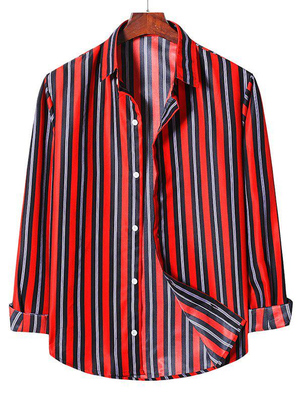 Striped Casual Long Sleeve Button Up Shirt