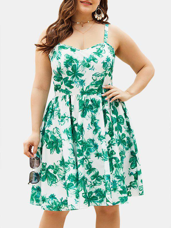 Buy Plus Size Floral Smock Dress