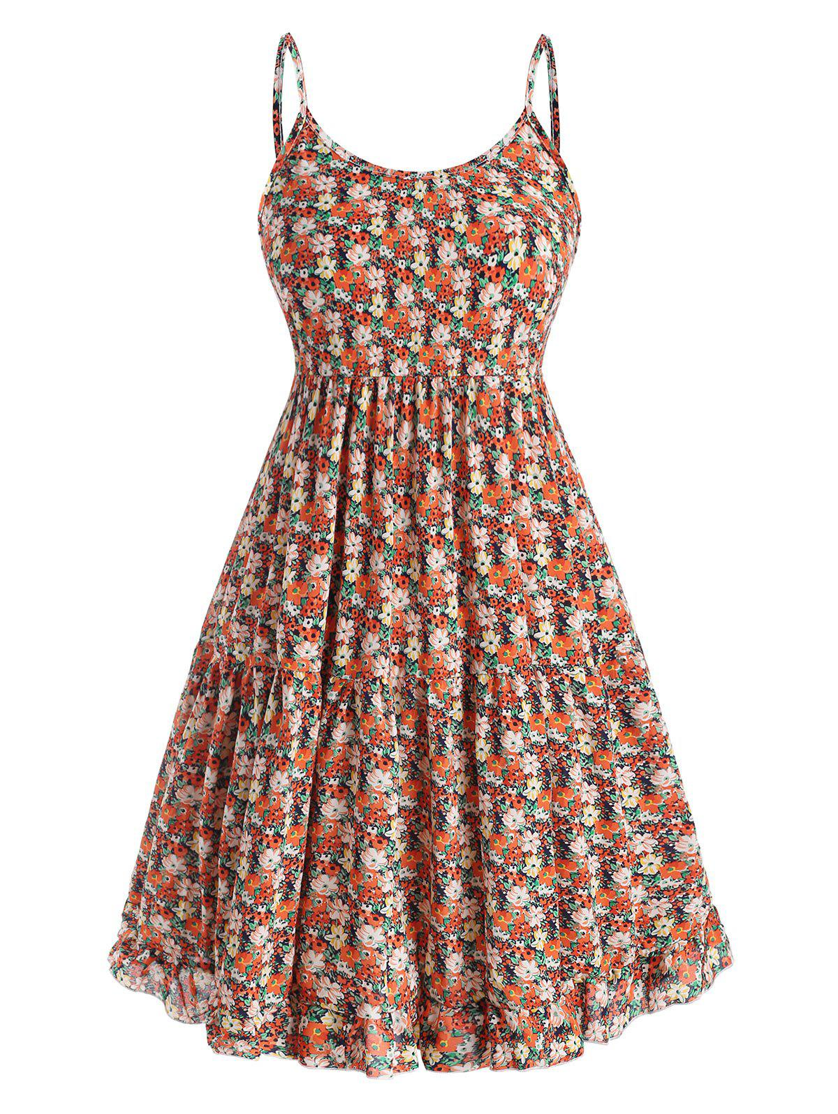 Outfit Plus Size Floral Ruffle Tiered Smock Sundress