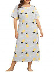 Plus Size Pineapple Print Nightdress -