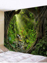 Sunshine Forest Pattern Wall Tapestry -