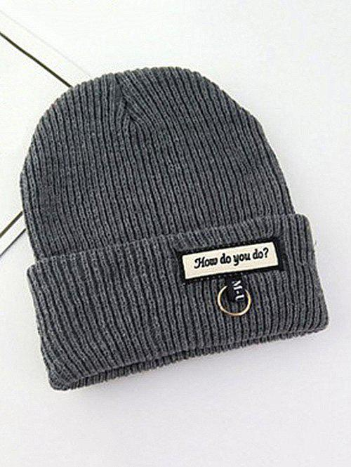 Letters Ring Autumn Winter Knitted Hat фото