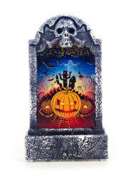 Halloween Decorative Retro Tombstone Shape Lamp -