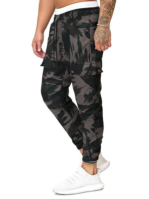 Buy Camo Print Casual Pencil Cargo Pants