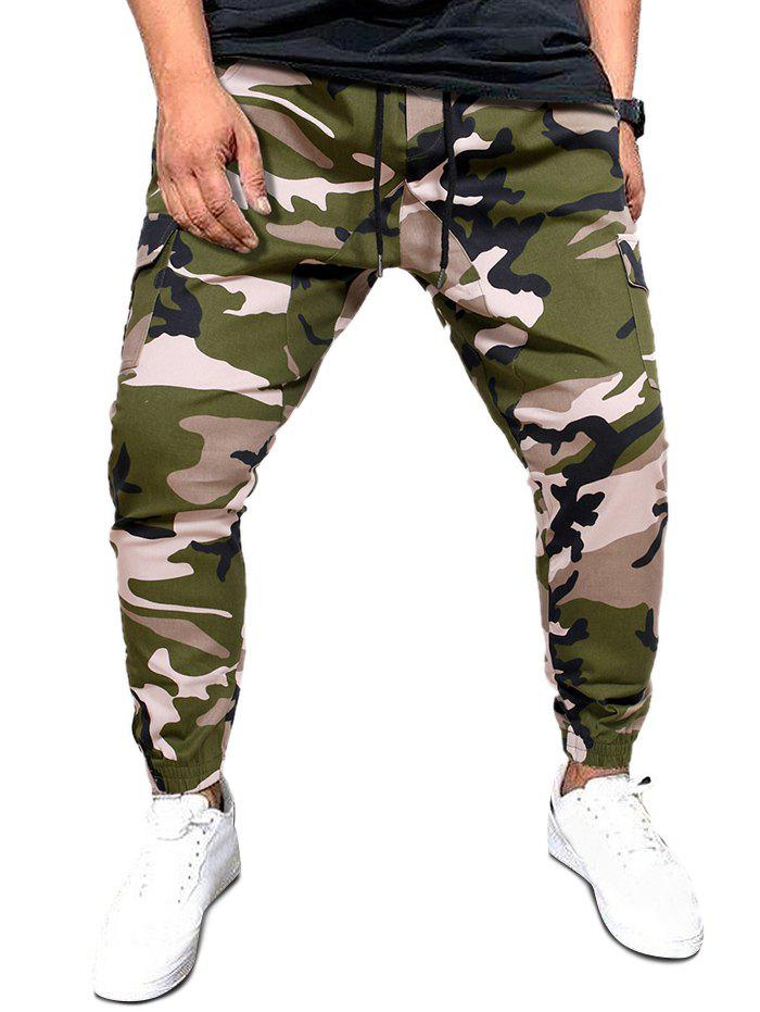 Best Camo Print Flap Pockets Casual Cargo Pants