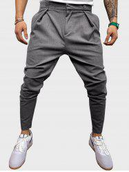 Button Detail Casual Tapered Pants -