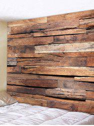 Retro Printing Wood Plank Wall Tapestry -