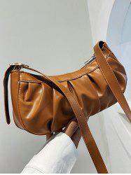 Casual Pleated Solid Shoulder Bag -