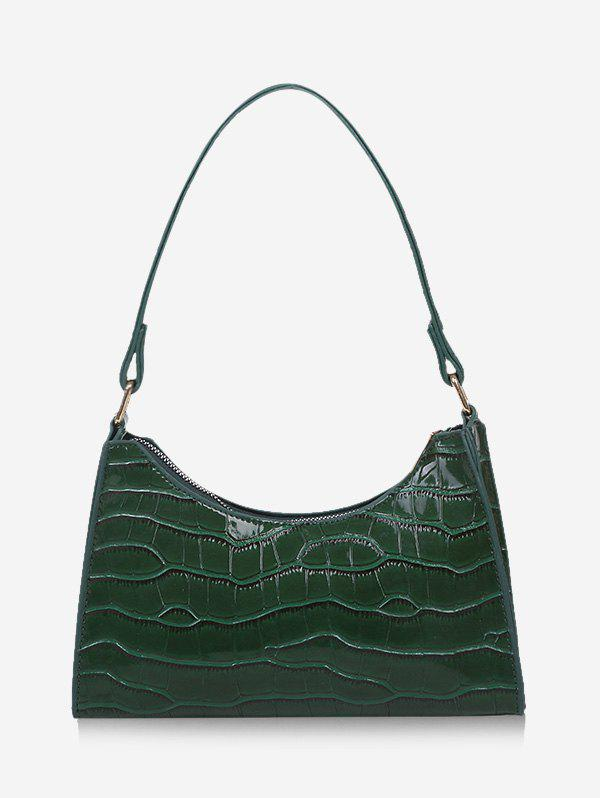 Outfit Textured Patent Leather Solid Shoulder Bag