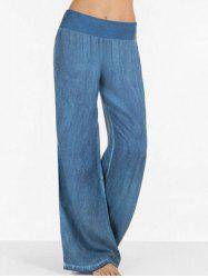 High Rise Wide Leg Casual Pants -