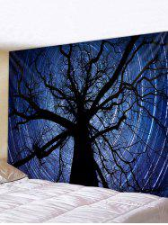 Halloween Sky Tree Print Waterproof Tapestry -