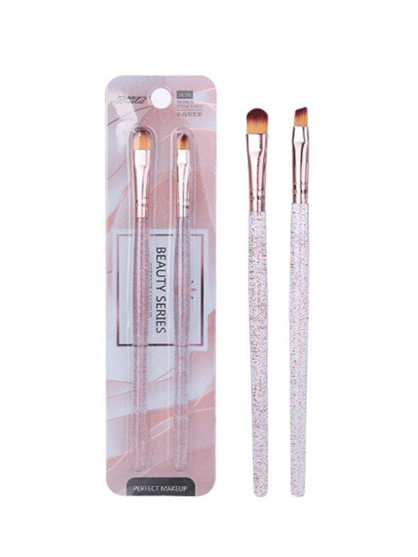 2Pcs Beauty Tool Eyebrow Brush Eyeshadow Brush Set