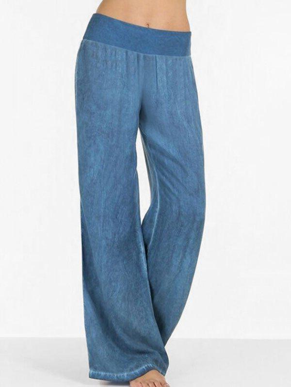 Cheap High Rise Wide Leg Casual Pants