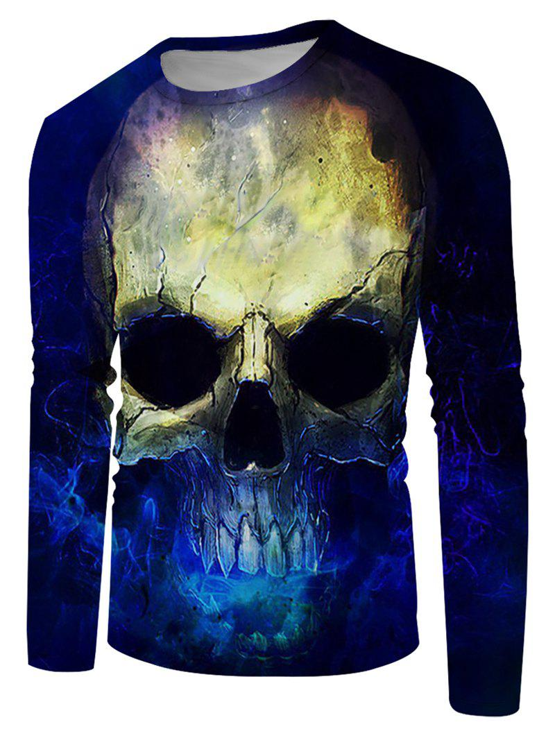 Trendy Skull Pattern Casual Long Sleeve T Shirt