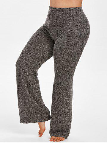 Plus Size Knitted Heathered Pajamas Pants