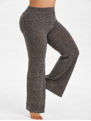 Plus Size Knitted Heathered Pajamas Pants -