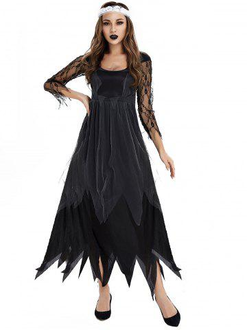 Costume d'Halloween Zombie Mariée - BLACK - XL