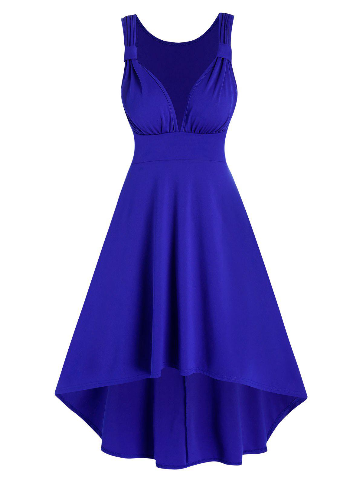 Shop Ruched Sleeveless High Low Prom Dress