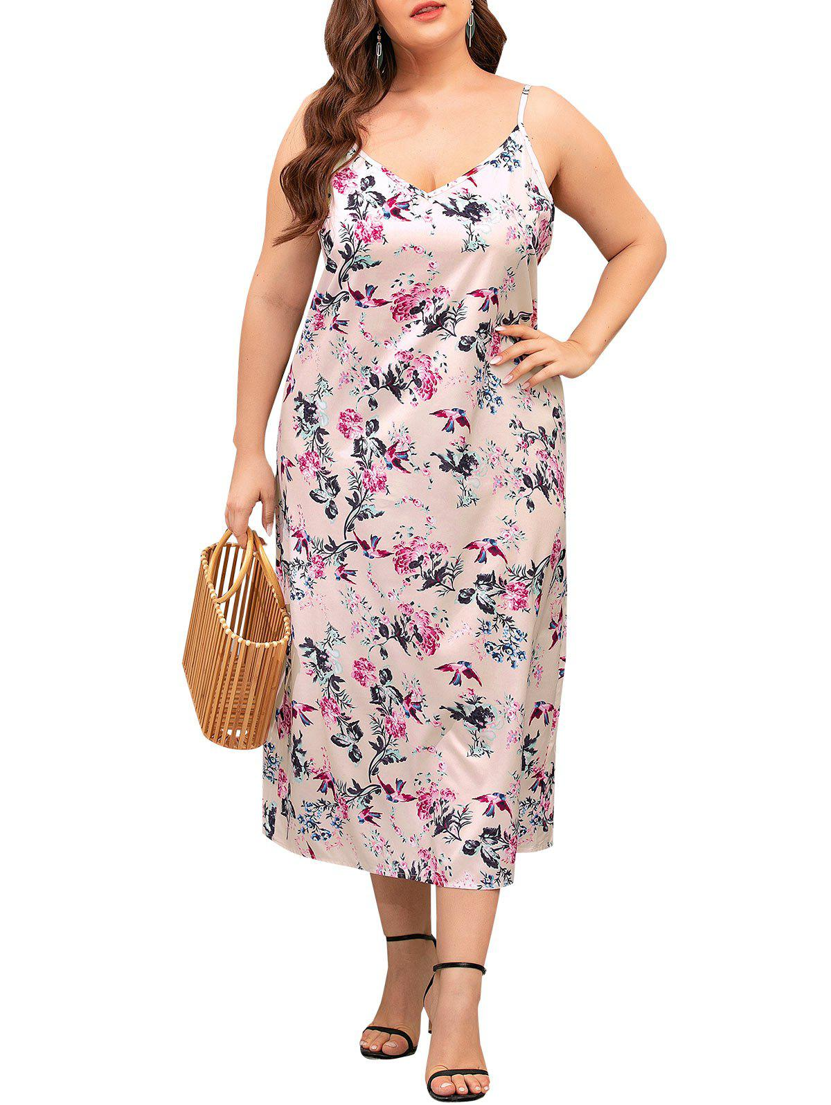 Latest Cami Floral Plus Size Midi Dress