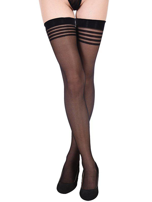 Store Striped Thigh High Non-slip Stockings