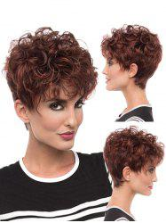 See-through Bang Fluffy Curl Short Synthetic Pixie Wig -