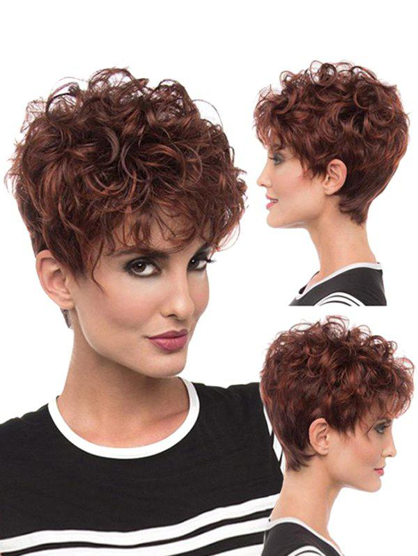 Best See-through Bang Fluffy Curl Short Synthetic Pixie Wig