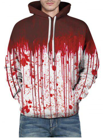 Kangaroo Pocket Halloween Dripping Blood Print Hoodie