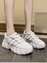 Pure Color Zigzag Sole Breathable Dad Sneakers -