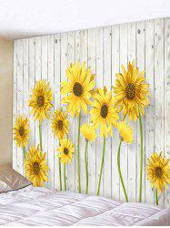Sunflower Printed Wall Hanging Tapestry -