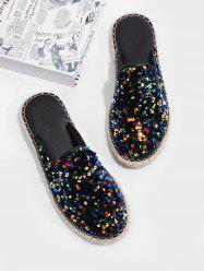 Sequins Outdoor Close Toe Flat Slippers -