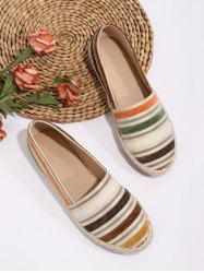 Colorful Striped Espadrilles Loafer Flat Shoes -