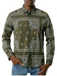 Paisley Pattern Vintage Long Sleeve Shirt -