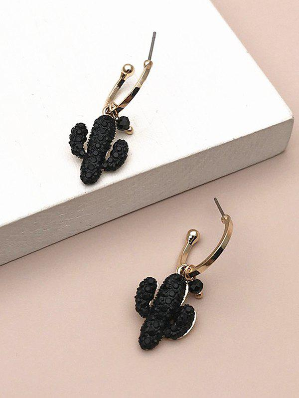 Textured Cactus Shape Drop Earrings фото
