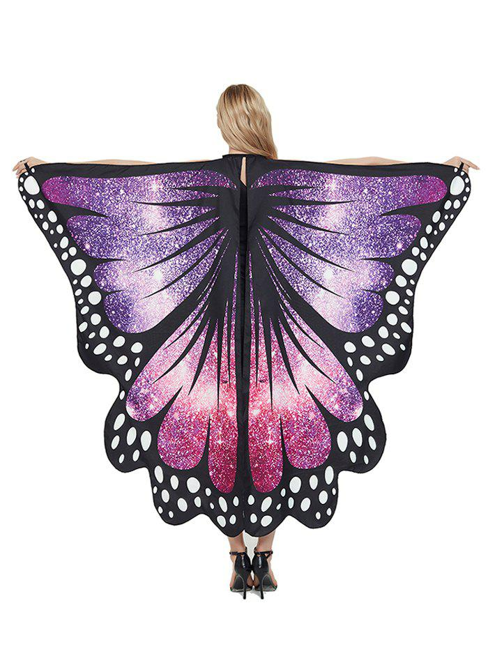 Unique Party Cosplay Butterfly Wing Pattern Decorative Cape