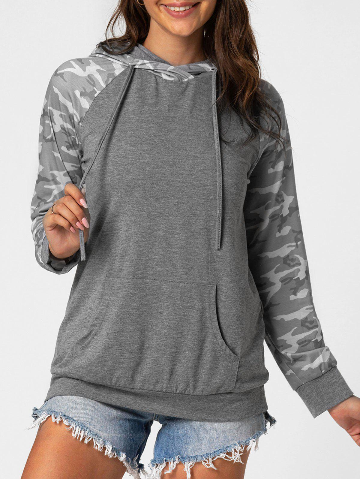 Store Camo Front Pocket Marled Hoodie