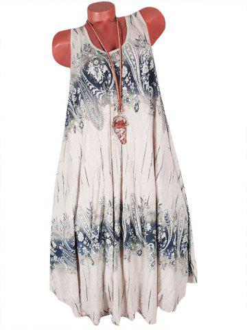 Paisley Printed Sleeveless Shift Dress