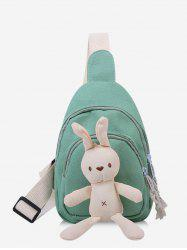 Cute Rabbit Canvas Chest Bag -