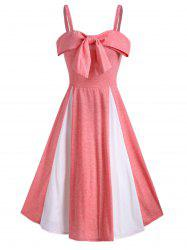Bowknot Two Tone Cami A Line Dress -