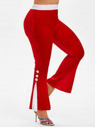 Plus Size Velvet Bell Bottoms Pants -