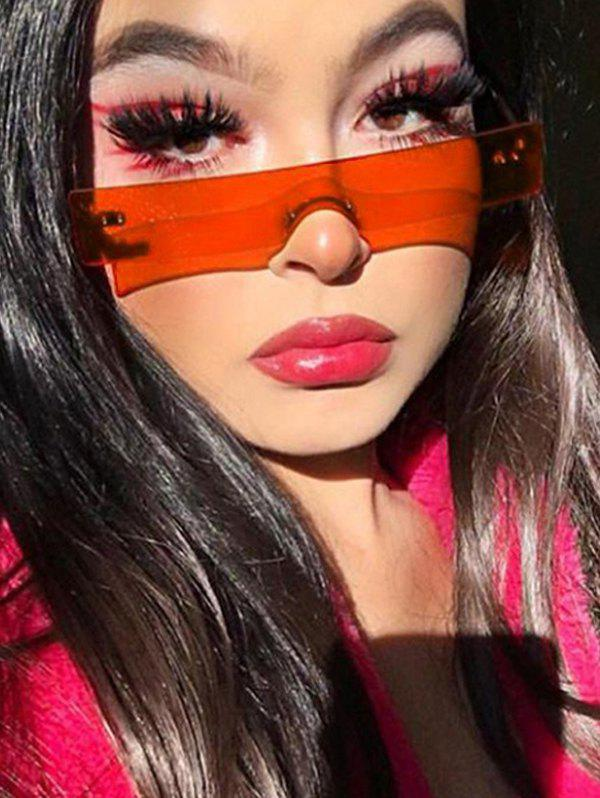 Outfits One-piece Rectangle Rimless Sunglasses