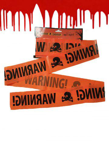 Halloween Scene Decorated Skull Warning Isolation Tape