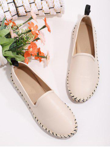 Brief Slip On Braid Flat Shoes - WARM WHITE - EU 41