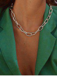 Chunky Chain Collarbone Necklace -