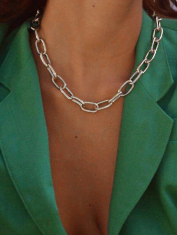 Chunky Chain Collarbone Necklace фото