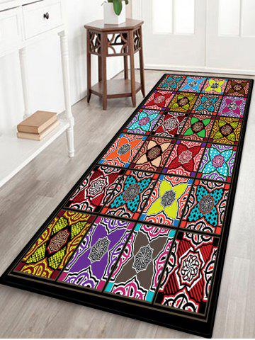 Geometric Patchwork Pattern Floor Mat