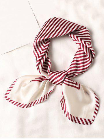 Striped Small Square Scarf