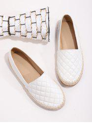 Quilted Leather Espadrilles Loafer Flat Shoes -