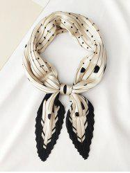 Dots Printed Satin Rhombic Pleated Scarf -