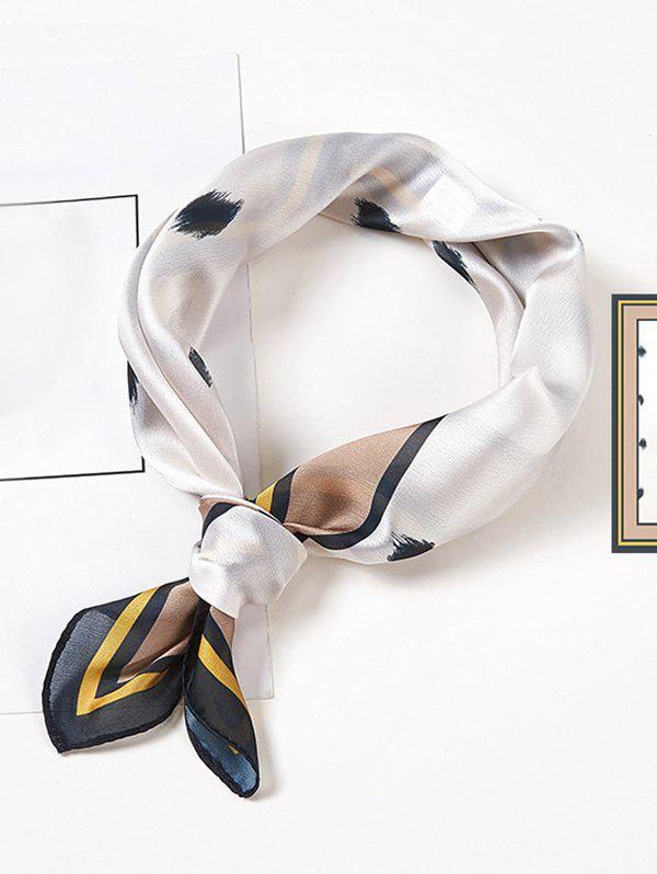Hot Minimalist Printed Satin Square Scarf